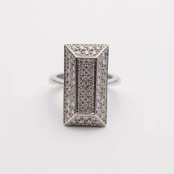 Alfieri & St. John Diamond Pavé Setting Ring Size 56