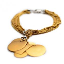 Alfieri & St. John Diamond and Yellow Gold Charms Bracelet
