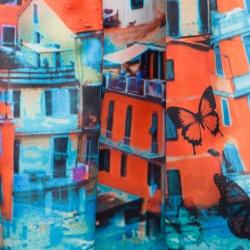 Alice + Olivia Venetian Butterfly Paradise Print Box Pleated Stora Skirt M