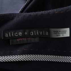 Alice + Olivia Navy Blue Cap Sleeve Victoria Peplum Dress M