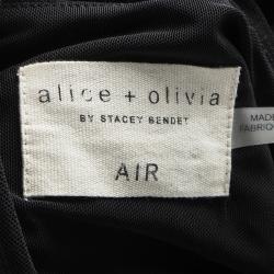 Alice + Olivia AIR Black Sleeveless T Back Crop Top M