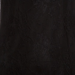 Alice + Olivia Black Floral Lace Layered Bottom Sleeveless Dress S