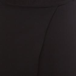 Alice + Olivia AIR Black Ankle Zip Detail Draped Cropped Pants M