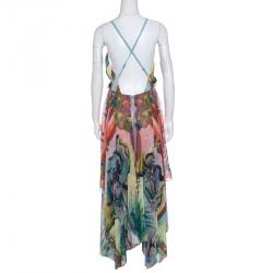 Alice + Olivia Multicolor Lola Lady Printed Orly Handkerchief Dress L