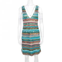 1be78d29bc Alice + Olivia Multicolor Embellished V-Neck Sleeveless Venetia Dress M