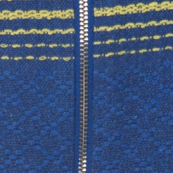 Alice + Olivia Blue Cotton Cap Sleeve Zip Front Woven Amy Crop Top M