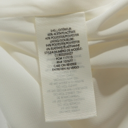 Alice + Olivia Off White Crepe Pearl Detail Kristiana Dress S