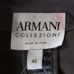 Armani Collezioni Metallic Blue Striped Fuzzy Blazer L