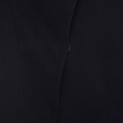 Armani Collezioni Black Wool Blend Crossover Lapel Blazer M