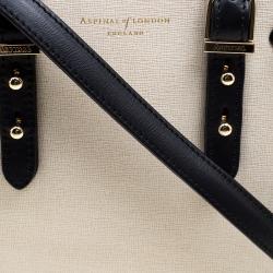 Aspinal Of London Beige/Black Leather Mini Marylebone Tote