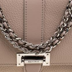 Aspinal Of London Beige Leather Small Lottie Shoulder Bag