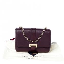 Aspinal Of London Burgundy Leather Small Lottie Shoulder Bag