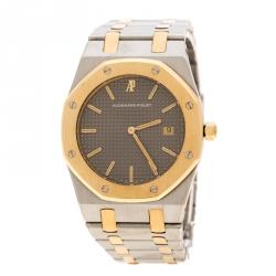 8b147090b Audemars Piguet Grey Stainless Steel and 18K Rose Gold Royal Oak Women's  Wristwatch 33 mm