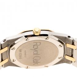 Audemars Piguet Grey Stainless Steel and 18K Rose Gold Royal Oak Women's Wristwatch 33 mm