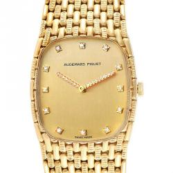 Audemars Piguet Gold Daimonds 18K Yellow Gold 40154 Women's Wristwatch 27x32 MM
