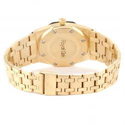 Audemars Piguet Grey 18K Yellow Gold Royal Oak Automatic Women's Wristwatch 30 MM
