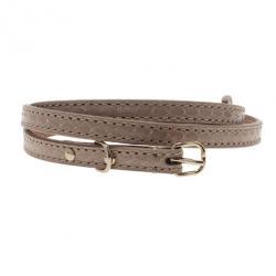 Balenciaga Beige Python Skinny Belt 85CM