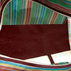 Balenciaga Burgundy/Multicolor Nylon Mesh XL Bazar Shopper Bag