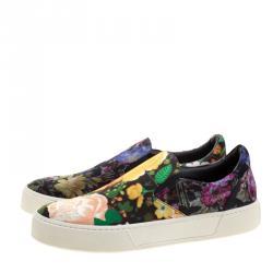 Balenciaga Multicolor Floral Printed Fabric Slip On Sneakers Size 40