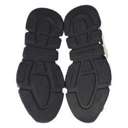 Balenciaga Beige Knit Graffiti Sole Speed Sneakers Size 39