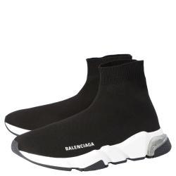 Balenciaga Black Speed Clear Sole Sneaker Size EU 37