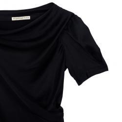 Balenciaga Black Satin Dress S