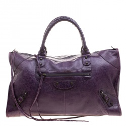 Balenciaga Violet Leather Classic RH Work Tote