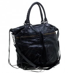 Balenciaga Black Leather RH Square Tote