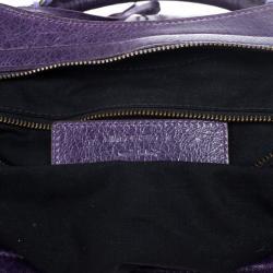 Balenciaga Violet Leather Step Bag