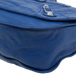 Balenciaga Blue Leather Arena Giant 12 Neo Folk Messenger Bag