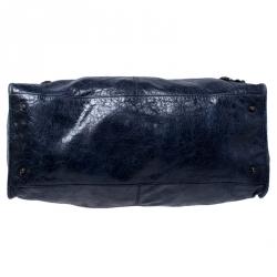 Balenciaga Navy Blue Lambskin Leather Classic RGH Work Bag
