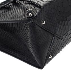 Balenciaga Black Python Mini Papier A4 Tote