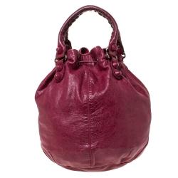 Balenciaga Sang Leather GCH Pompon Hobo