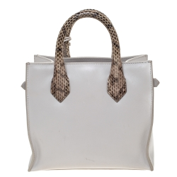 Balenciaga Dune Python and Leather Mini Nude All Afternoon Tote