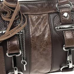 Balenciaga Brown Leather Hook Bag