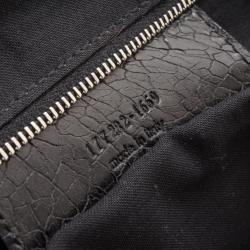 Balenciaga Black Leather Folding Framed Purse