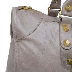 Balenciaga Beige Leather Large Weekend Bag
