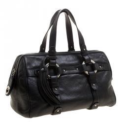 Bally Black Leather Charlyna Satchel