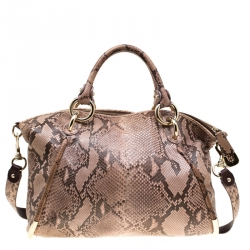quite nice quality design lowest discount Bally Beige Python Top Handle Bag