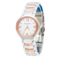 a5e3917569d9 Baume & Mercier Silver White Stainless Steel And Rose Gold Plated Steel  Promesse 65753 Women's Wristwatch
