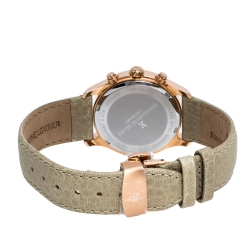 Bernhard H Mayer Khaki Rose Gold PVD Plated Stainless Steel Irish Chronograph Women's Wristwatch 38 mm