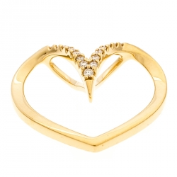 Bernhard H. Mayer Milena Heart Diamond 18k Yellow Gold Pendant