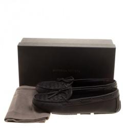 Bottega Veneta Brown Intrecciato Leather Loafers Size 39.5