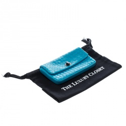 Bottega Veneta Sky Blue Intrecciato Leather Continental Wallet
