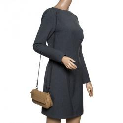 Bottega Veneta Brown Intrecciato Leather Chain Clutch 42f3b930a343f