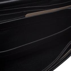 Bottega Veneta Black Intrecciato Leather Chain Clutch