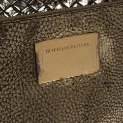 Bottega Veneta Gold Intrecciato Leather Medium Cabat Tote
