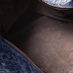 Bottega Veneta Multicolor Intrecciato Nappa Leather and Lizard Large Veneta Hobo
