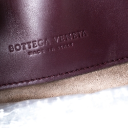 Bottega Veneta Burgundy Intrecciato Leather Small Roma Tote