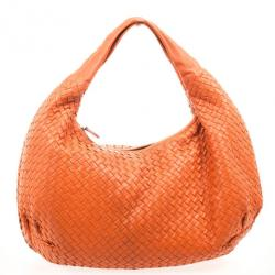 Bottega Veneta Orange Intrecciato Large Hobo